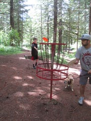 An 18-hole disc golf course circles the outside of