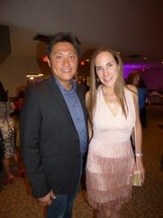 Steven Lin and event co-chair and breast cancer survivor