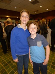 Covington students Michael Brennan and Leo Dietz.