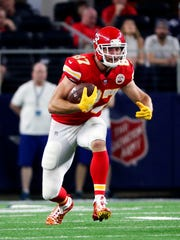 Chiefs tight end Travis Kelce will be a difficult matchup for the Buffalo defense.