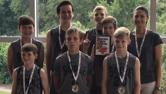 The Carolina Smoke sixth-grade boys basketball team