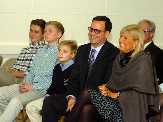 Mark Ziegler and wife Jody, and their sons Ross, Logan and Chase.