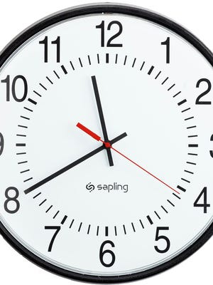 Be sure to set your clocks back one hour this weekend.