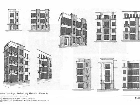Preliminary elevation elements to be incorporated into the architecture of Maplewood.