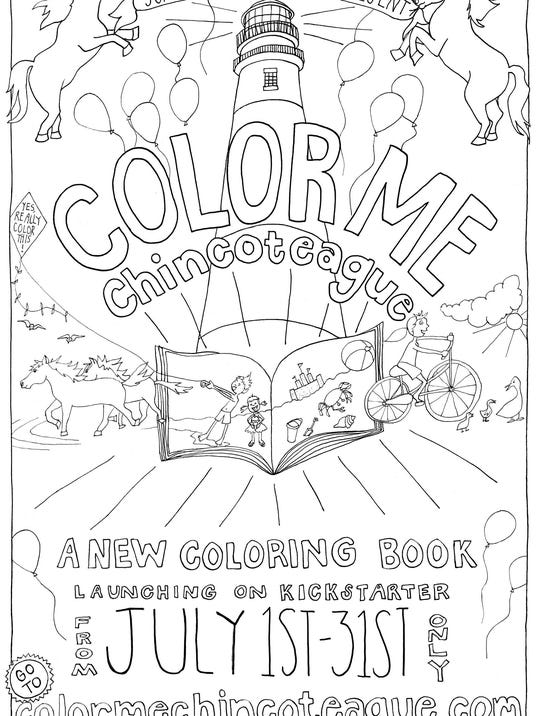 color me chincoteague island inspires coloring book