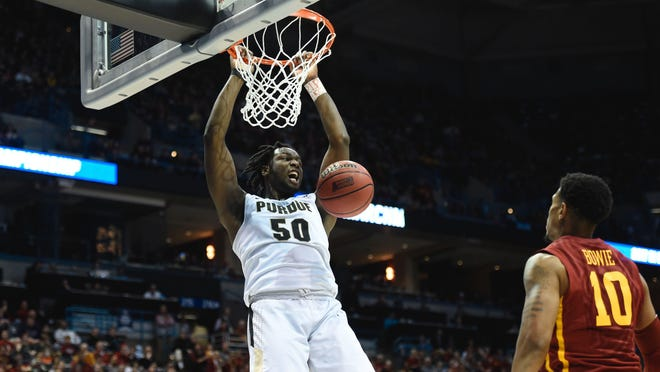 Caleb Swanigan was named the nation's best big man Sunday night, receiving the Pete Newell Award.