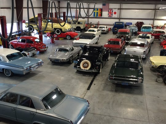 Classic Mechanics has about 32 vintage cars in for