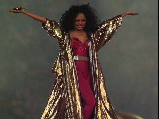 Diana Ross performs at the halftime show during Super