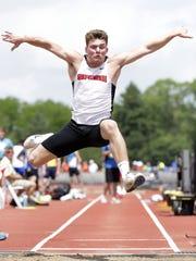 Stevens Point Area Senior High's Trent Hamerski competes