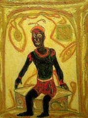 """Beauford Delaney's """"Self Portrait in a Paris Bath House,"""" an oil he painted in 1971, is among art recently bought by the Knoxville Museum of Art."""