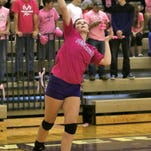 Maddie Baldwin had 10 digs, six kills, seven points and two aces in Tuesday's season-ending loss to Haslett.