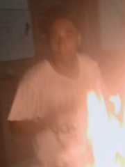 Investigators are seeking the identity of a young man captured on social media images starting a building fire last month in Smyrna.