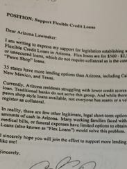 This petition was signed by several hundred Arizonans