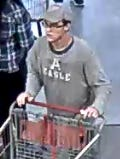 Police are looking for this man, suspected of stealing a 55-inch television set from a Livonia Costco.