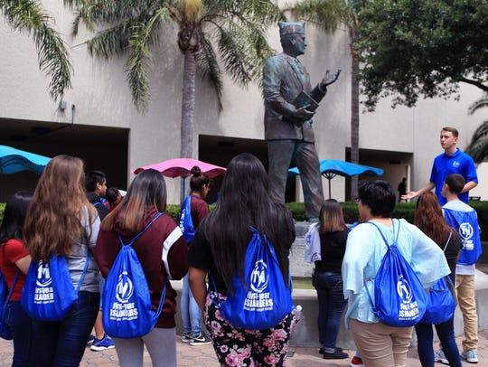 High school students and recent graduates tour Texas