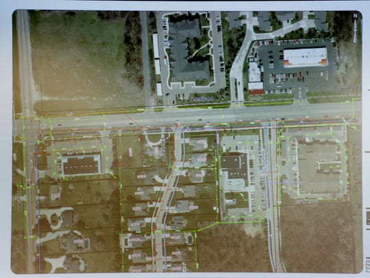 A map of the affected area where a sinkhole at 15 Mile