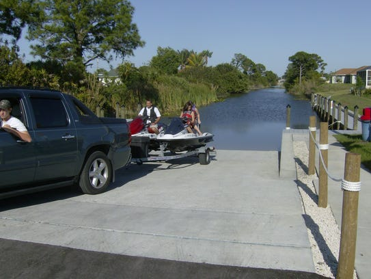The BMX Park Boat Ramp is the only improved ramp that