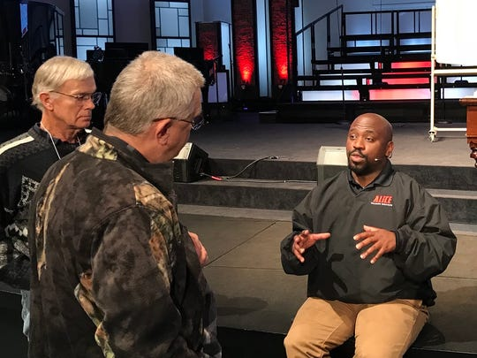 Law enforcement veteran Brandon Rhone explains how churchgoers can defended themselves against an armed attacker.