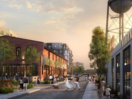 A rendering of the retail project Vantage Realty Partners