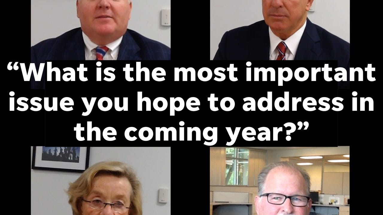 "The Naples Daily News Editorial Board sat down with the four candidates running for three open seats in the Naples City Council race. They each answered the question, ""What is the most important issue you hope to address in the coming year?"""