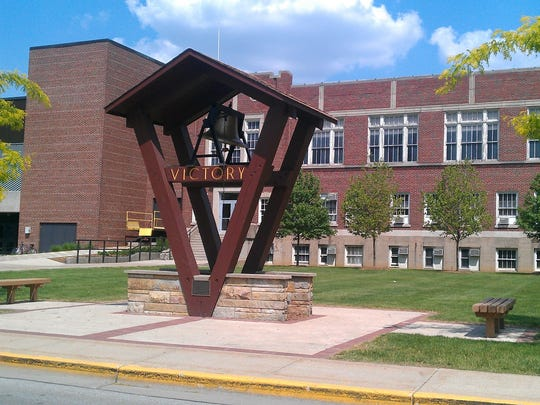 The Victory Bell of Valparaiso University.
