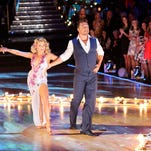 "Witney Carson and Chris Soules dance during the fourth episode of ""Dancing With the Stars."""