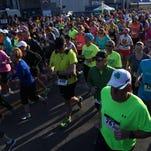 Hundreds of runners participated in the Greater Binghamton Bridge Run Half-Marathon on Sunday, May 3, 2015.