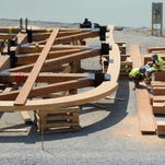 Construction is underway for the giant Noah's ark theme park in Grant County.