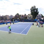 A great crowd was on hand for the LG&T Tennis Challenger finals at Rec Park in Binghamton