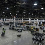 2018 Detroit auto show: Construction crews already pouring in to Cobo