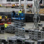 Cobo Center builds for North American International Auto Show 2018