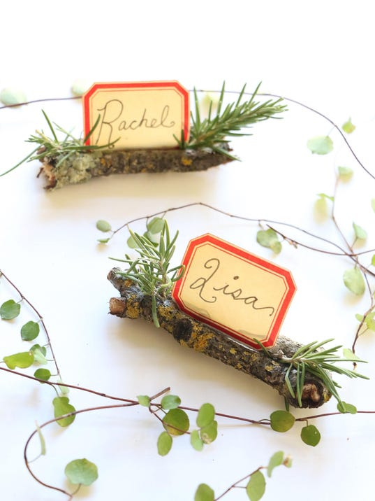 Holiday place card holders will make your party more special for Unique thanksgiving place card holders