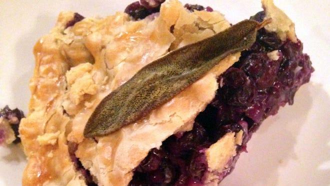 Saged Blueberry Pie at The Market.