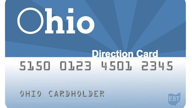 The Ohio Direction Card is a debit card on which SNAP food-stamp allocations are loaded.
