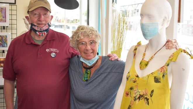 Annie's Unique Boutique in Somerset is experiencing two sets of customers: those who want to shop and others who want to consign clothing. Frank Prescott, owner of the store with his wife, Annie, said they have more people than ever requesting appointments to consign clothes.