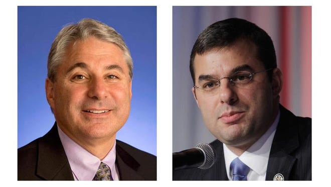 Brian Ellis, left, failed in his challenge to U.S. Rep. Justin Amash, R-Mich.