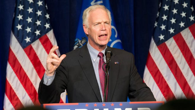 Sen. Ron Johnson speaks at a rally for Donald Trump on Nov. 1, 2016, in Eau Claire, Wis.