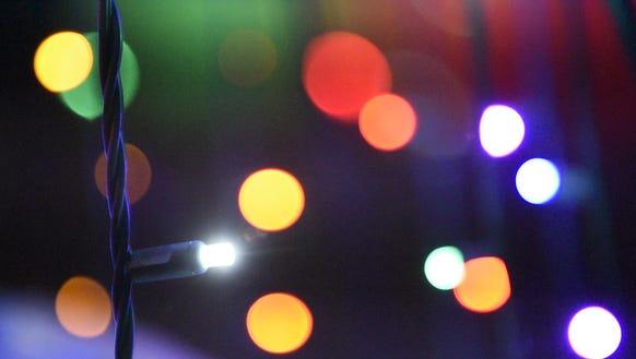 Lights at Grasslands Christmas