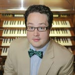 Derrick Meador will give a free organ concert at noon Tuesday as part of the Tuesdays at Trinity concert and lunch series.