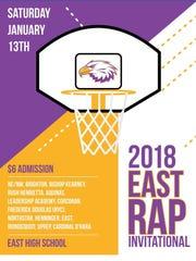 Poster for 2018 East/RAP Invitational