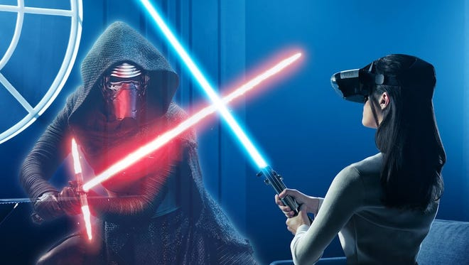 Star Wars:Jedi Challenges lets users engage in lightsaber battles right in your living room.
