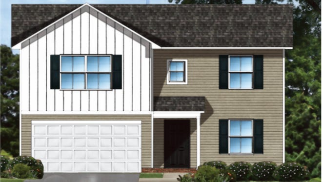 A rendering of a home at a proposed affordable housing development off Antioch Church Road in Greenville County.