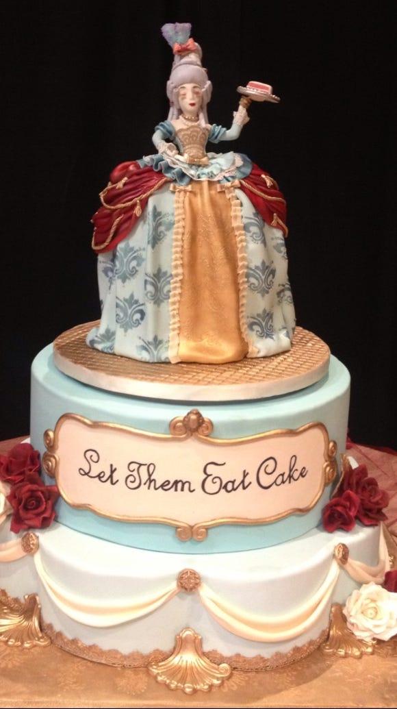 Kayla Trahan creates elaborate cakes like this one