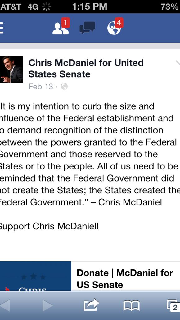 Chris McDaniel Facebook
