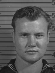 """Service record photo of Richard """"Dick"""" Snyder of Clyde."""
