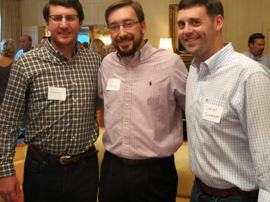 Graham Thompson, Chris Castleman, Daniel Simpson at Ambassador gathering.