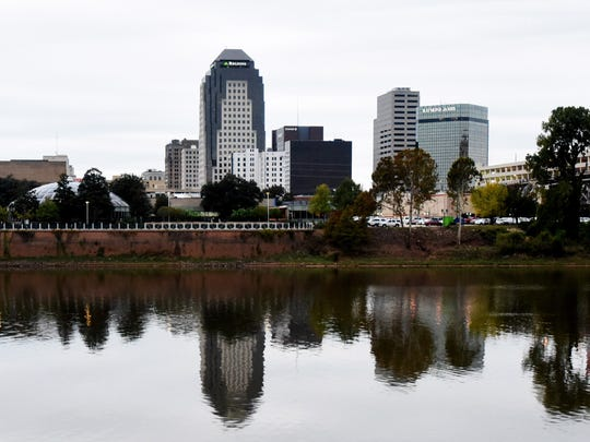 The skyline of Shreveport.