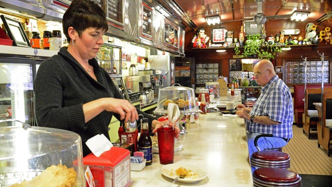 Four Aces Diner waitress Jamie Ockington said Lebanon voters appear evenly split between supporting Bernie Sanders and Hillary Clinton.
