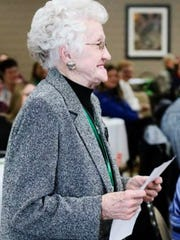 Local attendee and former fruit grower Barb Radewald