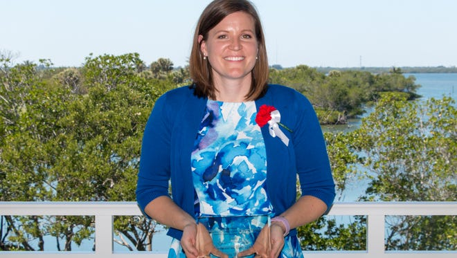 Moreen Burkart, the Visiting Nurse Association'sSenior Music Therapist was named Woman of the Year by Junior League of Indian Riverunder the Civic/Nonprofit Professional category.